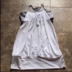 Lululemon No Limits Tank White Grey Size 6